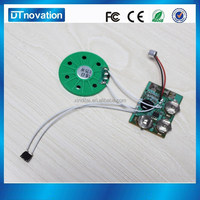 Promotion voice recordable sound chip greeting card module for music box