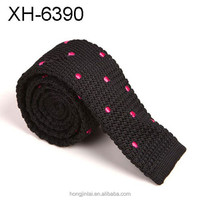 Polyester knitted tie,Hand made ties,Microfiber ties fashion design polka dots tie mens tie necktie XH6390