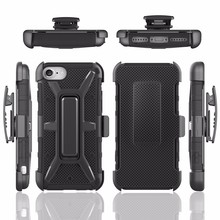 Hybrid Rugged triple Layer Holster Case for iphone 7 case with Built-in Rotating Stand Belt Swivel Clip