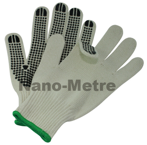 NMSAFETY cotton lined pvc dotted hand gloves