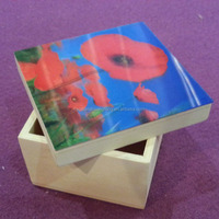 3D design art minds wood craft wooden box with lid