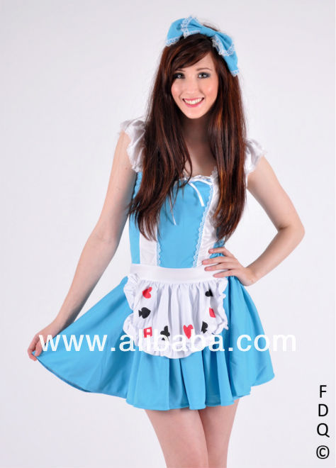 Alice in Wonderland Fancy Dress Costume Size M/L/XL