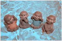 Best selling ceramic monkey figurine manufacturers in china