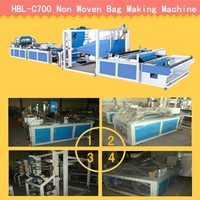 high quality strawing non woven bag machine pp non-woven D cut bag making machine with handle attached