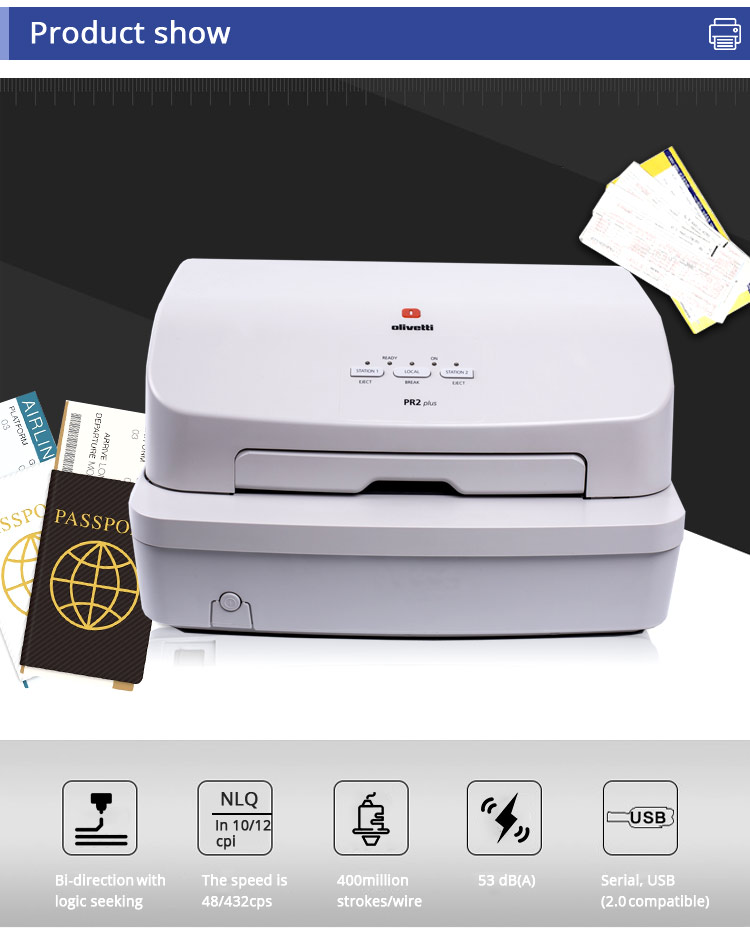 New original Olivetti PR2 plus passbook printer waybill printer