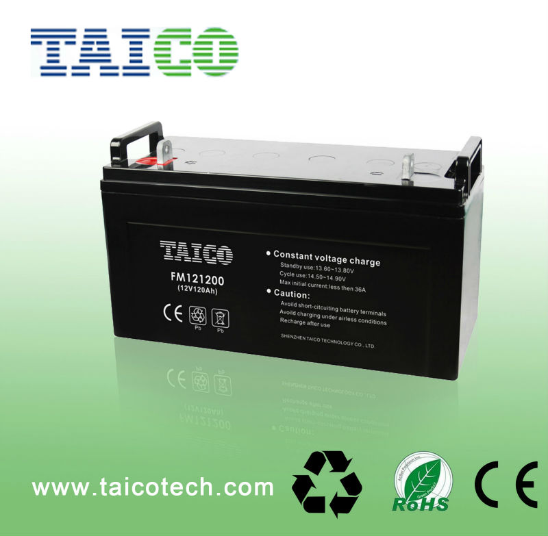 solar rechargeable MF GEL 12v 120ah deep cycle battery