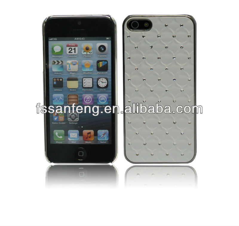 Deluxe diamond sticker case for iphone 5 5g 5s,2 in 1 pc tpu case for iphone5