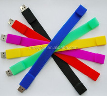 Factory Direct Sale 1~32GB Flash Drive Soft Silicon Bracelet Memory USB with High Quality