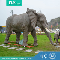 Popular Resin Handicraft Life Size Animal Elephant
