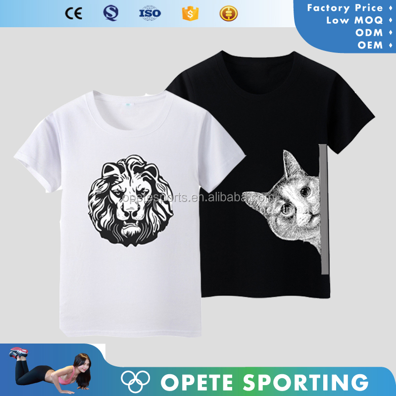 (OEM FACTORY)2017 round neck cotton or dry fit wholesale custom pattern t-shirt