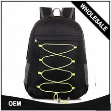 Ultralight foldable black nylon waterproof sports laptop backpack school travel hiking bags men