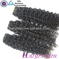 Large stocks Trade assurance High quality No tangle Virgin Brazilian Jerry Curl Hair Weave