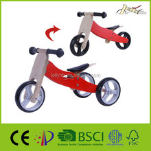 2-in-1 Safety Wooden Baby Tricycle Toys