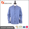 Cotton Elastane Contrast Ribbon Placket Blue Base White Dots Printed Shirt