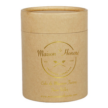 handmade gold foil stamping paper tube for dog food for packaging