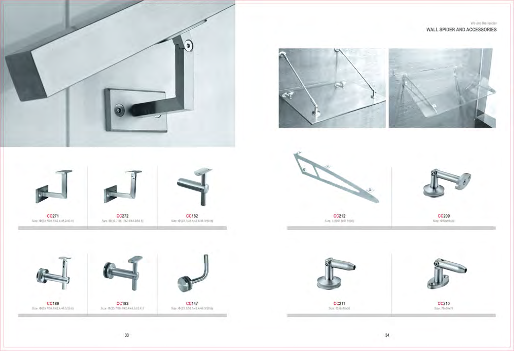 China manufacturer 304 stainless steel railing bracket