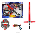 DJ2601997 Battery operated toy light up space warrior with mask bo toy gun boys game toys