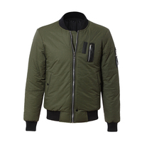 Wholesale fashion men bomber jacket satin winter coats
