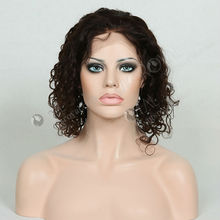 high quality human hair short curly wigs for black women