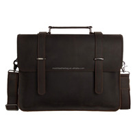 Vintage Leather Men Satchel Bag Men Leather Messenger 6148