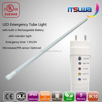 motion sensor fluorescent lights of t8 18w 20w led emergency light