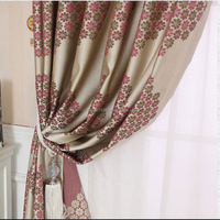 curtain blind home curtains,decorative window jacquard luxury curtain,home textile window treatments