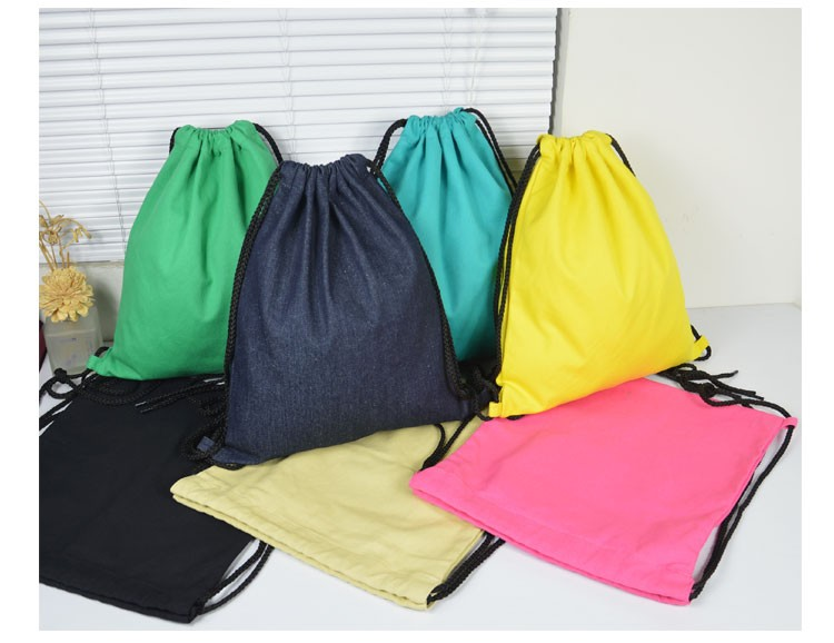 Wholesale delicate storage bag drawstring cotton candy bag