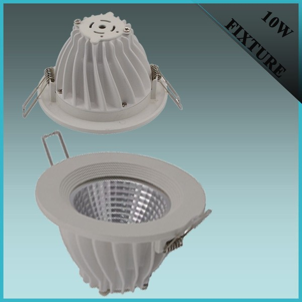 10w COB die casting aluminum led downlights shell
