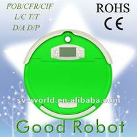Good Robot 750 hottest electric home appliance,with self-charging and Swivel wheels,rubber brushes