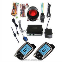 two way LCD car alarm system Universal anti theft two way car alarm system with auto central lock