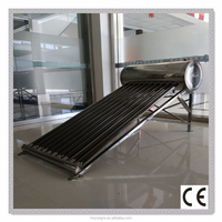 non pressure solar water heater/Stainless steel/100 Liters 2-3 people use