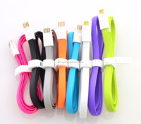 High speed Magnetic 1m flat micro usb cable for HTC Samsung s3 s4 note2 smartphones
