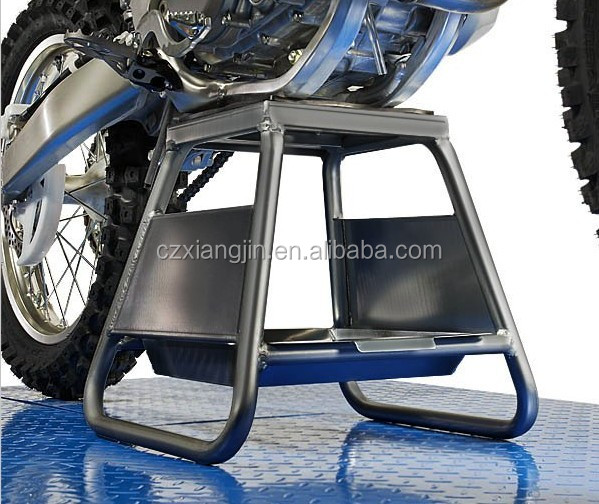heavy duty 1000 Lb motorcycle dirt bike stand lift rubber platform