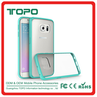 2016 ultrathin colorful case TPU+Acrylic wholesale phone case new arrival protect cell cover for samsung s6 S6 edge