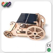 Educational Assembly Wooden Vehicle Solar Toy for Kids