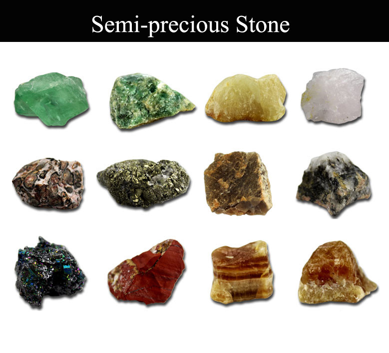 Semi Precious Gemstone Raw Stone : Wholesale mixed raw natural precious mineral stone