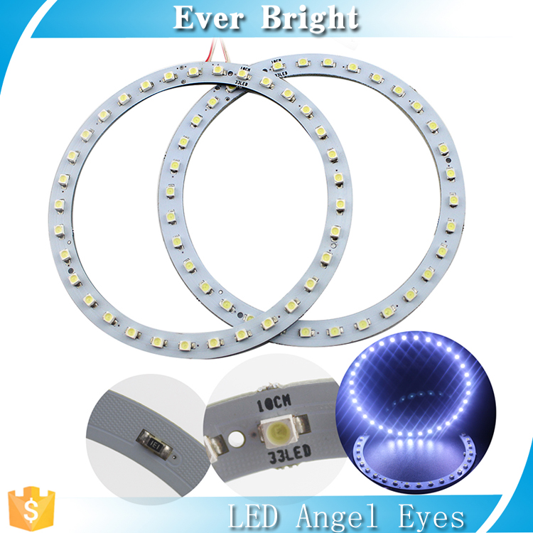 White 2pcs/set angel eye led 100mm 1210 33smd angel eyes lighting
