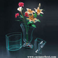 China manufacture acrylic clear plastic vase with various styles