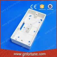 Double Gang Plastic Distribution Box Wall Mounted Socket Box