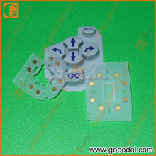 OEM silicone rubber keypads with gold pills for automotive
