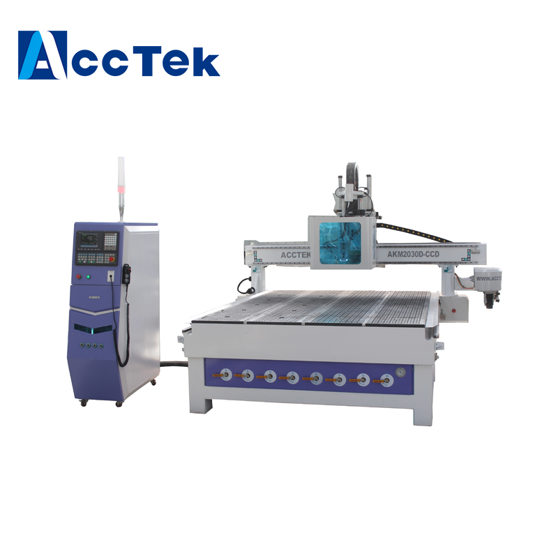Jinan Factory woodworking cnc router machine with multi motors for furniture/kitchen cabinet door making