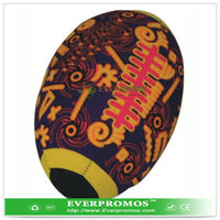 Oval shape water frisbees with colorful print