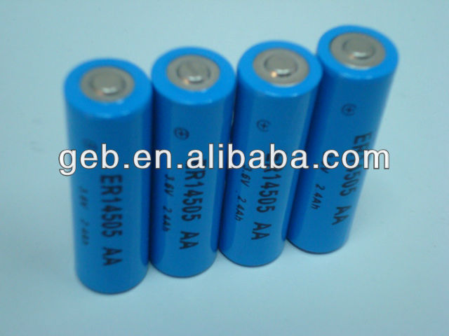 ER14505 AA 3.6V Lithium SOCL2 battery for water / gas meters