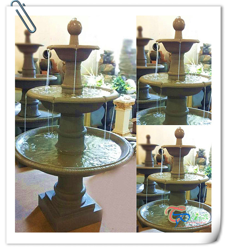 Garden Resin Water Fountain with Tiered Shape for Garden Decoration