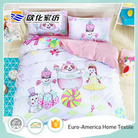 100% Cotton Dog Cartoon Kids Quilt Cover Set Bedding Sets