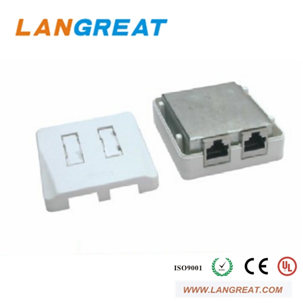 CAT.5e RJ45 Surface plastic electrical mount box