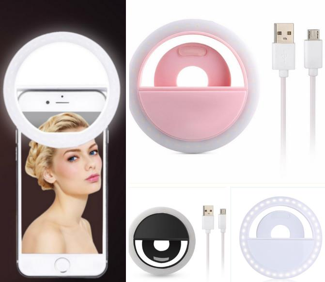 Selfie ring light Mobile phone LED flash fill selfie lamp outdoor selfie ring