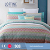 2017 Cotton wave Jacquard woven duvet cover /bedlinen