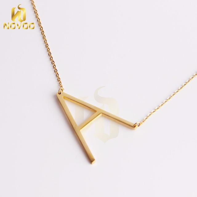 Wholesale Jewelry New Handmade initial letter A necklace 18K Gold For Women