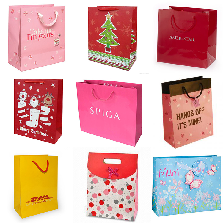 New Design Fashion brown paper bags/paper shopping bags/kraft paper bags